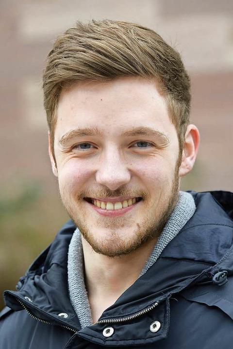 """Josua Rinklin, 21, Englisch/Spanisch: ... gerade auch an deutschen Unis.""""    Foto: Ingo Schneider"""