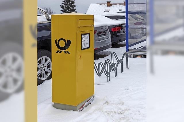 Briefkasten an neuem Standort