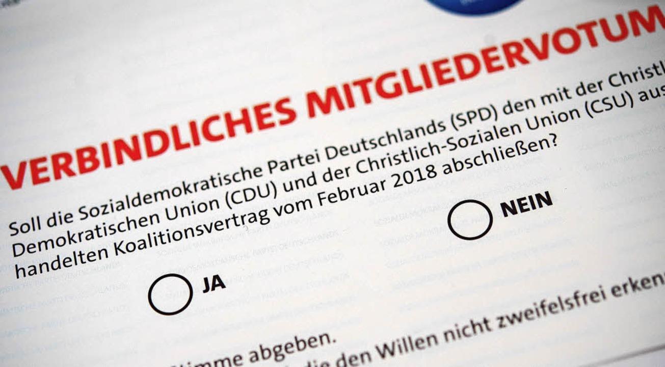 Alle SPD-Mitglieder sind aufgerufen, ihr Kreuzchen zu machen.   | Foto: dpa/BZ-Archiv