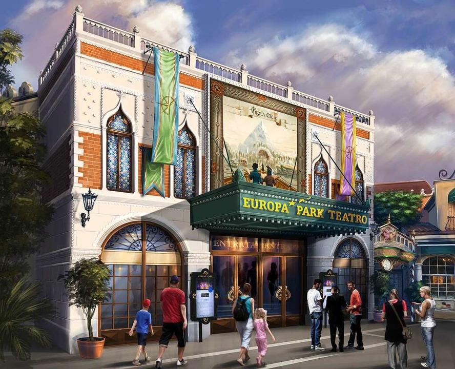 So wird der Eingangsbereich zum neuen Europa-Park-Teatro einmal aussehen.   | Foto: Reproduktion: Europa-Park