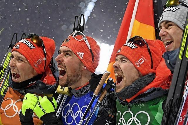 Team-Gold für Fabian Rießle und Co.