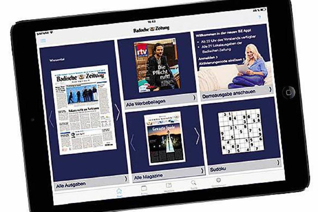 Umfangreiches Leistungspaket: BZ Digital Premium  | Foto: Badische Zeitung