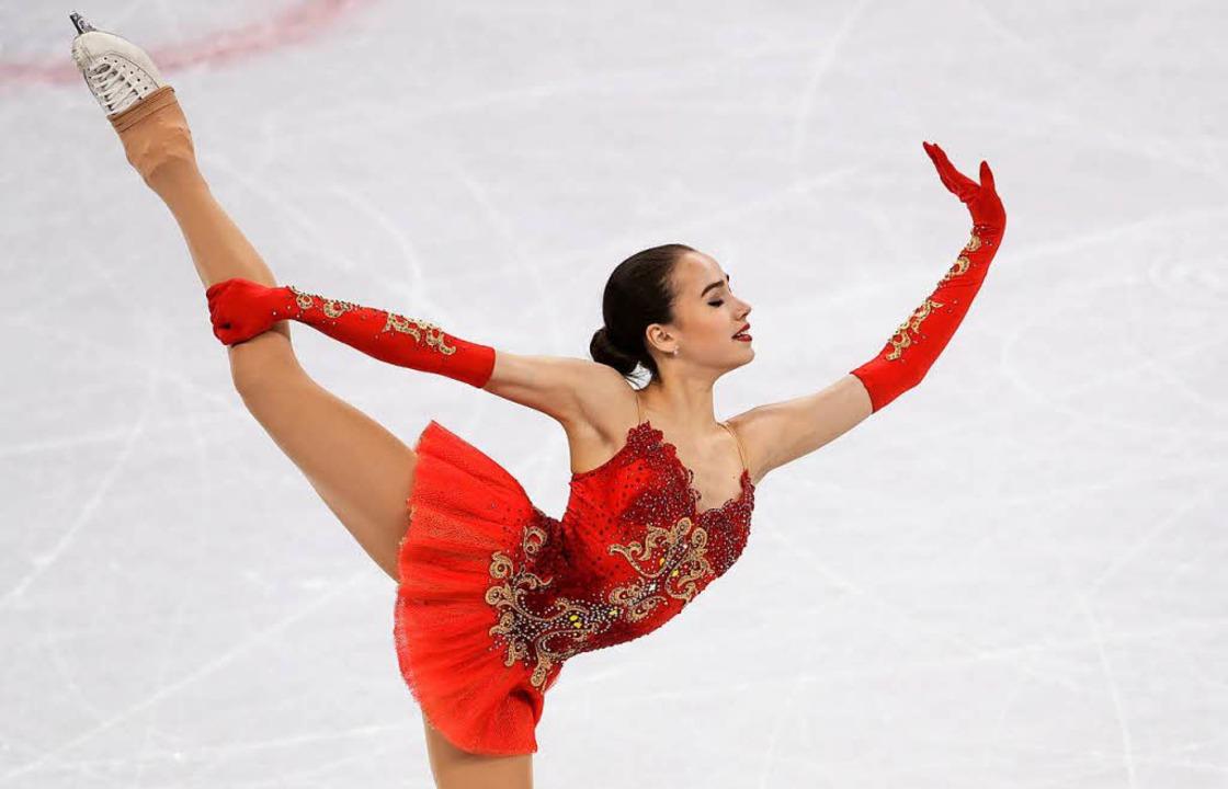 Alina Sagitowa holt Gold.    Foto: dpa