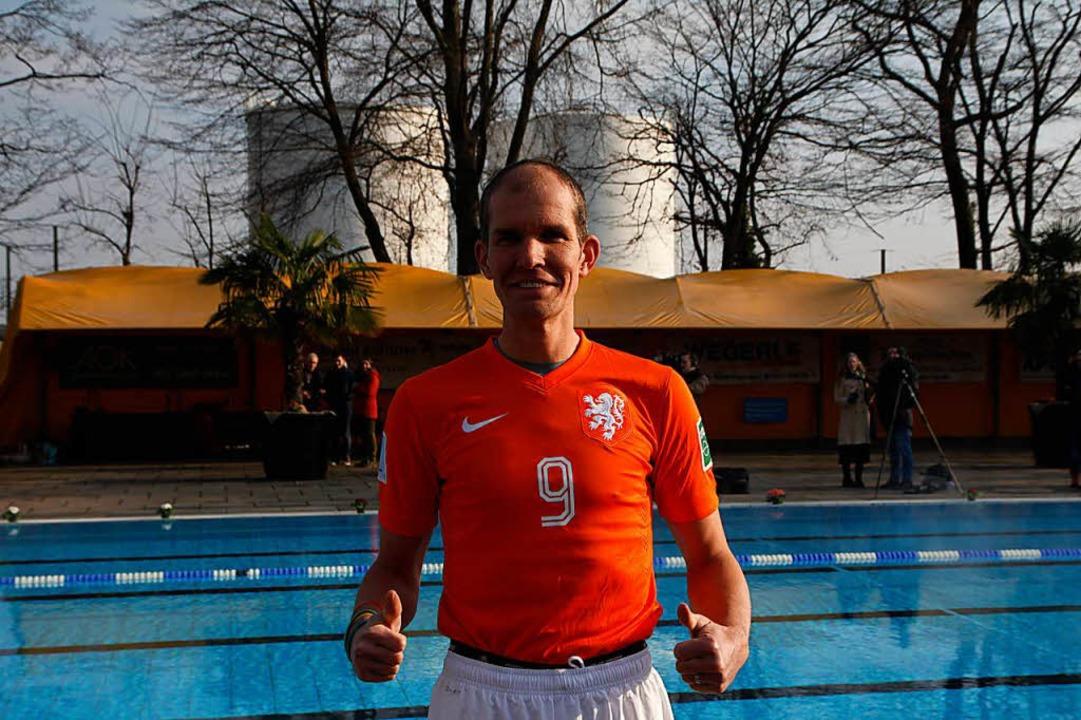 Maurits van Wijde ist extra aus den Niederlanden angereist.  | Foto: Dora Volke