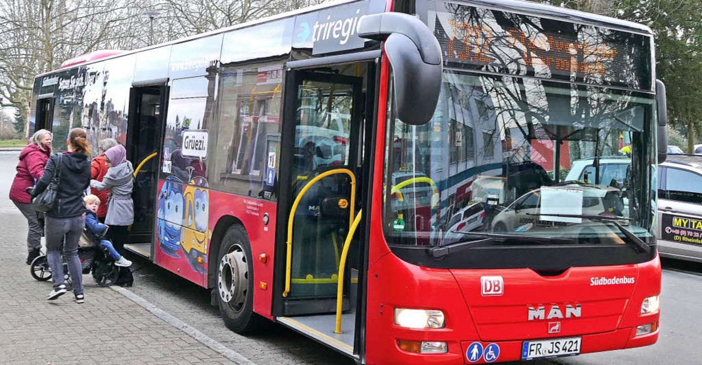 Der ÖPNV kommt immer besser an: An die... auf den Rheinfelder Linien unterwegs.  | Foto: Ingrid Böhm-Jacob, Horatio Gollin