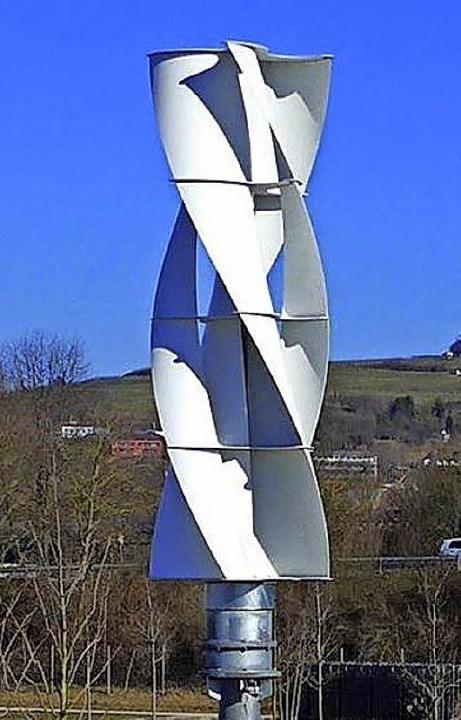 Das umstrittene Kleinwindkraftwerk in Lahr    Foto: FALK AUER