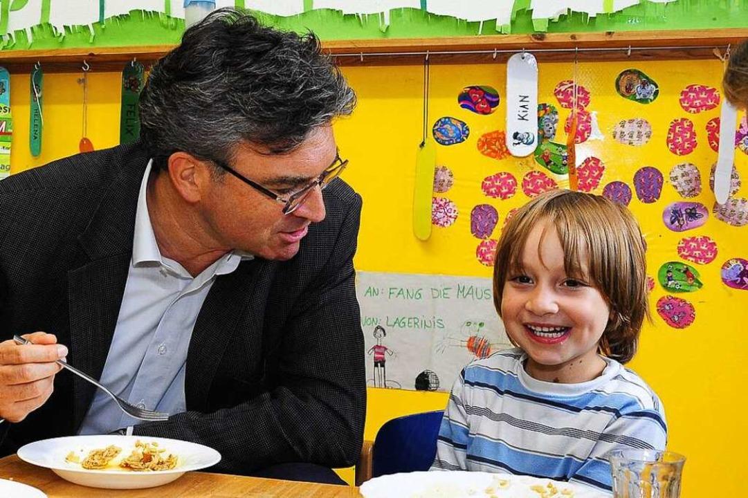 Der Ausbau der Kinderbetreuung stand i...ieter Salomon ganz oben auf der Liste.  | Foto: Thomas Kunz