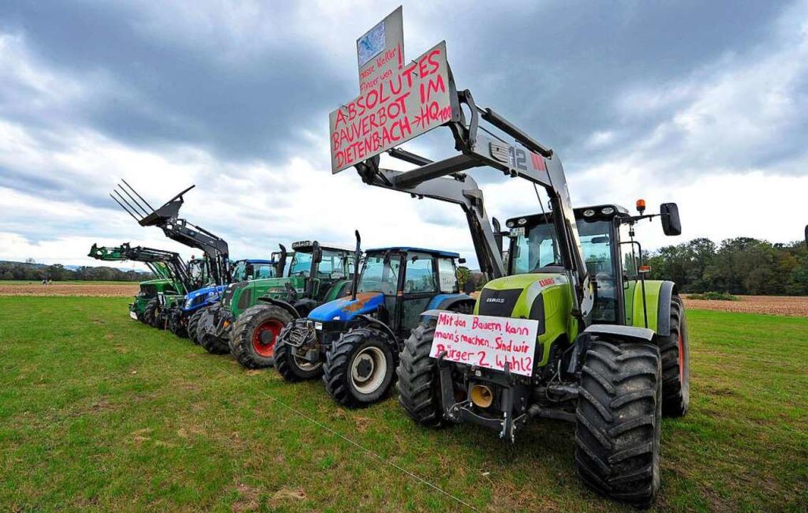 Der geplante Stadtteil Dietenbach ruft auch Protest hervor.  | Foto: Michael Bamberger