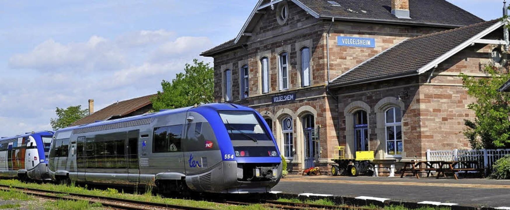 Aktuelle Endstation: Die französische ... Brücke aus dem Elsass nach Breisach.   | Foto:  trans rhin rail