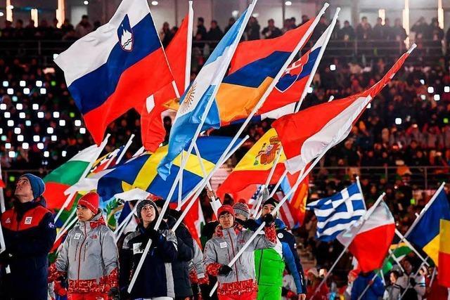 Kunterbunte Abschlussfeier der Olympischen Winterspiele in Pyeongchang