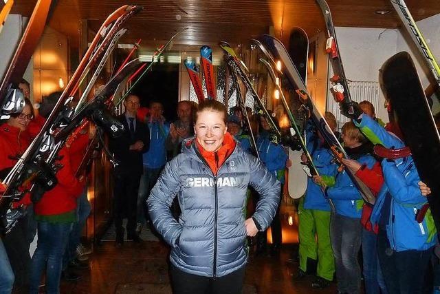 Olympia: Großer Empfang für Snowboardcrosserin Jana Fischer