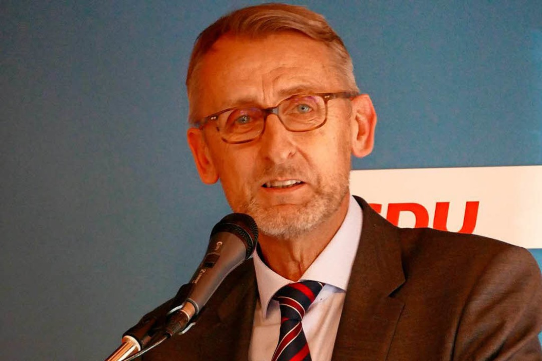 CDU-Bundestagsabgeordneter Armin Schuster    Foto: Michael Baas