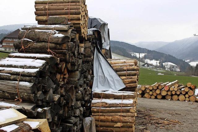 Beruhigend bei der Kälte: Ein Haufen Holz