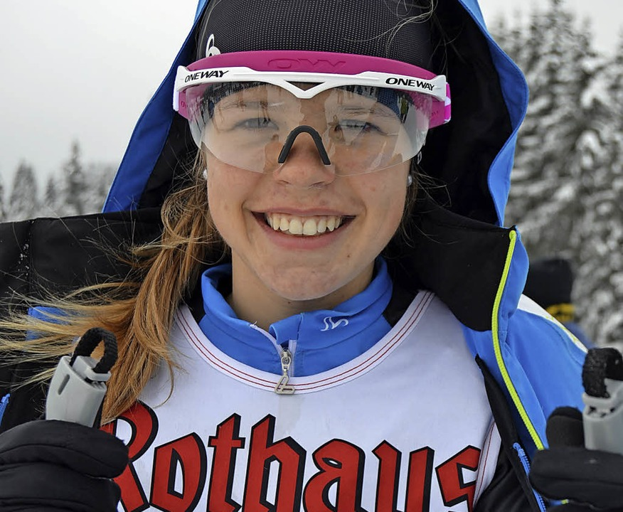 Amelie Wehrle vom SC Hinterzarten gewa...nt der Jugend 16  die Bronzemedaille.   | Foto: junkel