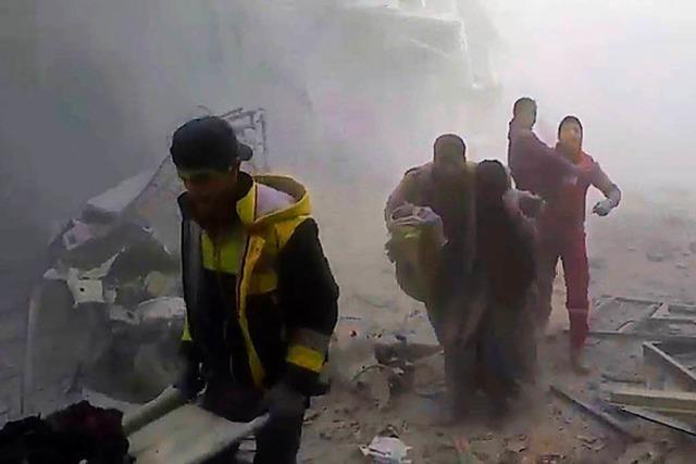 Wieder Angriffe auf Ost-Ghuta – Aktivisten melden Giftgaseinsatz