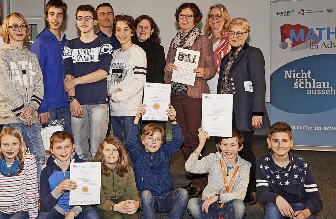 Mathe im Advent: Das Goethe-Gymnasium holte den Preis in seiner Klasse  | Foto: Privat