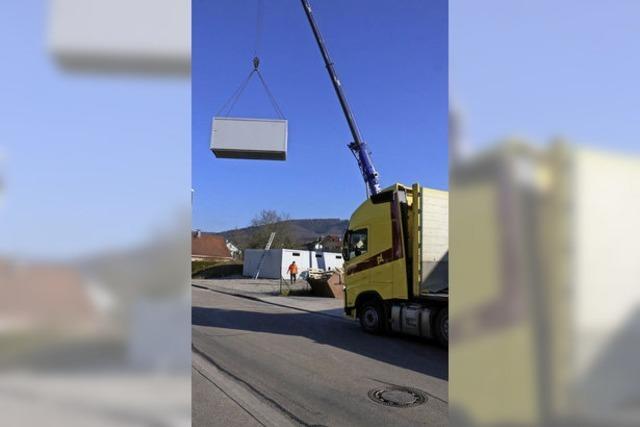 Wohncontainer in Seelbach werden abgebaut