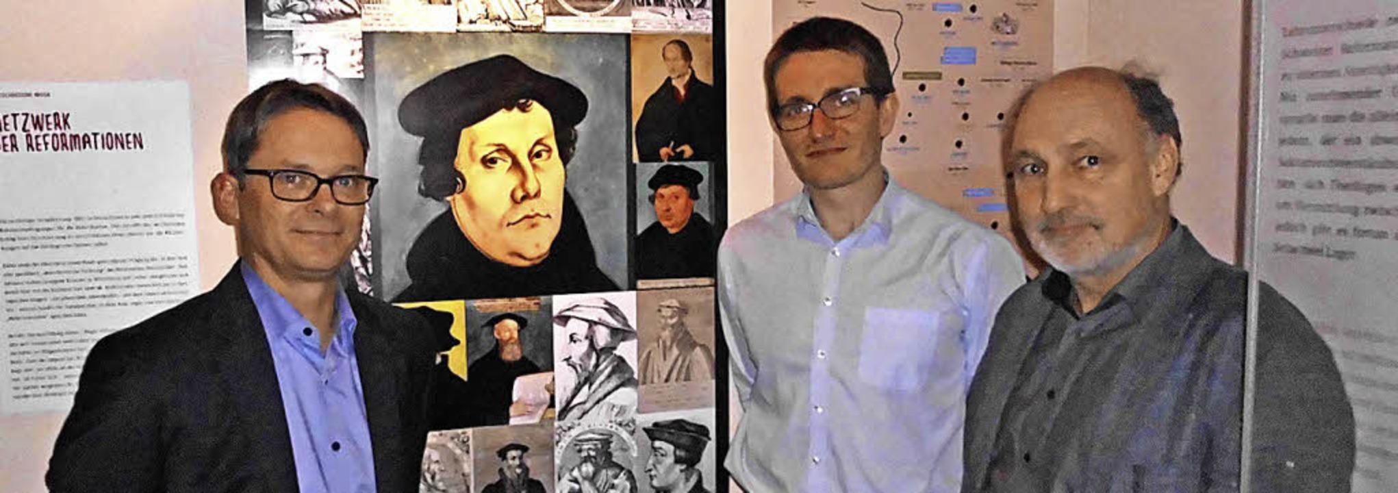 Thomas Kuhn (von links), Christoph Zac...d)  und Museumsleiter Markus Moehring.  | Foto: Daniel Scholaster