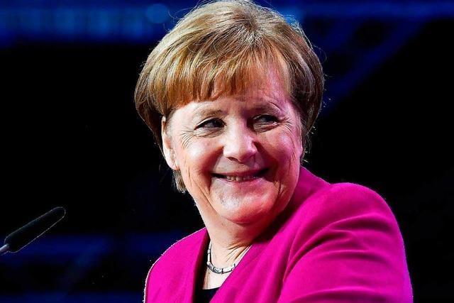 Kanzlerin Merkel wirkt wie befreit