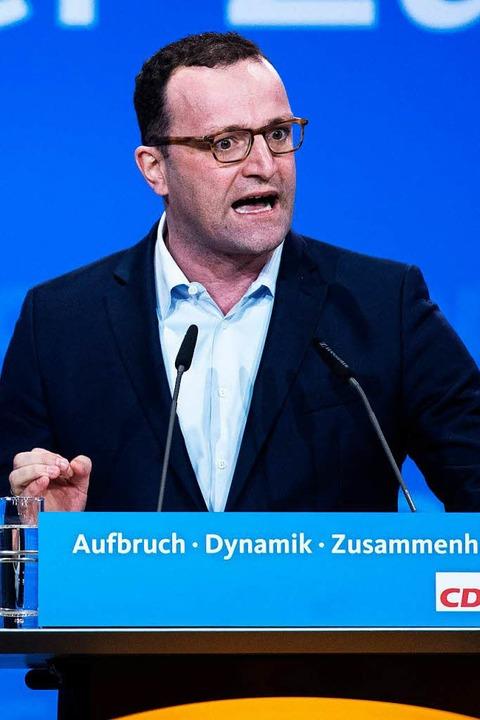Jens Spahn, Merkel-Kritiker und designierter Gesundheitsminister   | Foto: AFP
