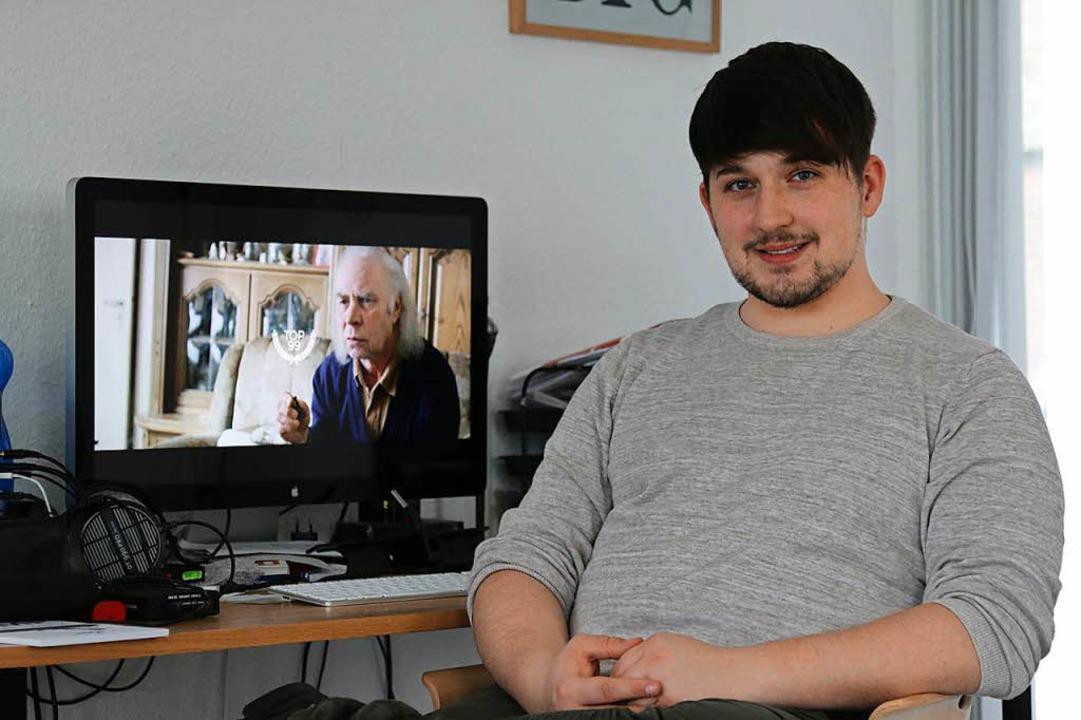 Der junge Filmemacher Maurice Kubitschek  | Foto: Katharina Bartsch