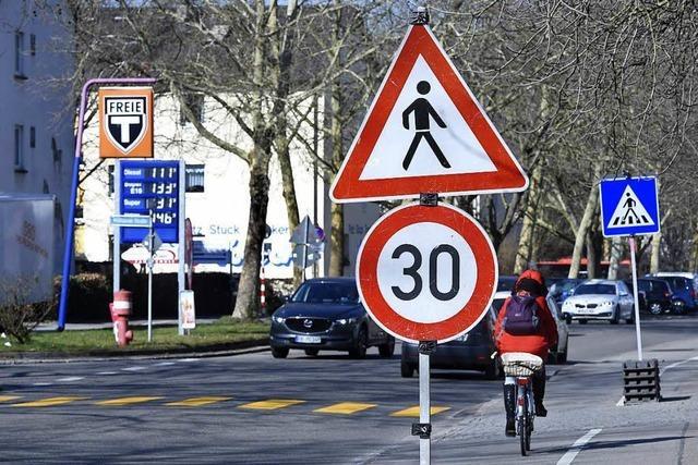 Freiburg bekommt bis zu elf neue Tempo-30-Zonen