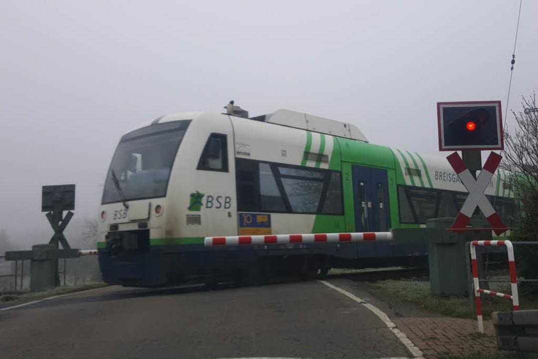 Verspätungen bei der Breisgau-S-Bahn: ...treikte am Dienstagmorgen eine Weiche.  | Foto: Sebastian Wolfrum