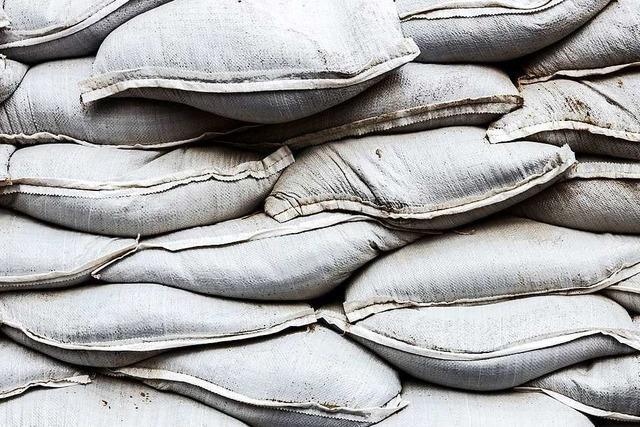 30.000 Sandsäcke sollen für Sicherheit bei Hochwasser sorgen
