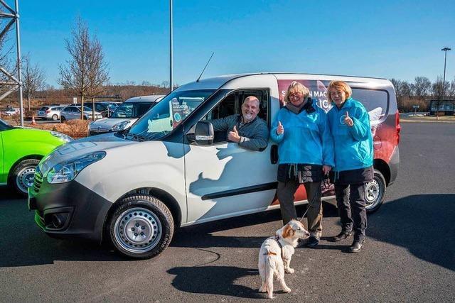 Tierhilfewagen für den Tierschutzverein