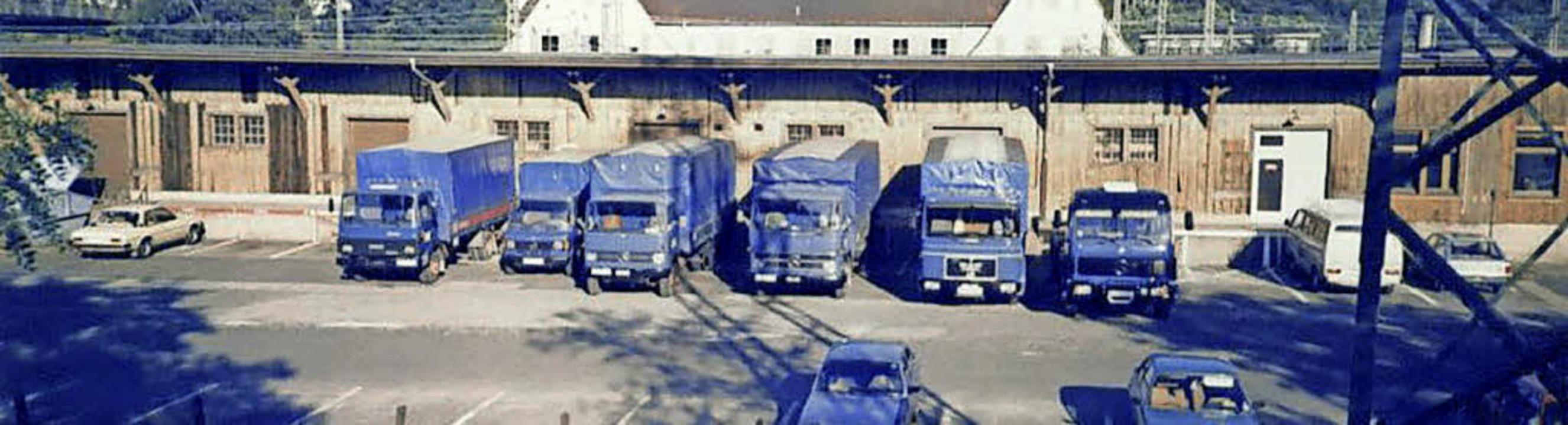 Als offizielles Rollfuhrunternehmen de... früheren Weiler Güterbahnhof ankamen.  | Foto: Reinhold Utke