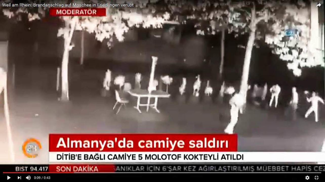 """""""Angriff auf  Moschee in Deutsch... Überwachungsvideos (Archivbild 2017).    Foto: Ulrich Senf"""