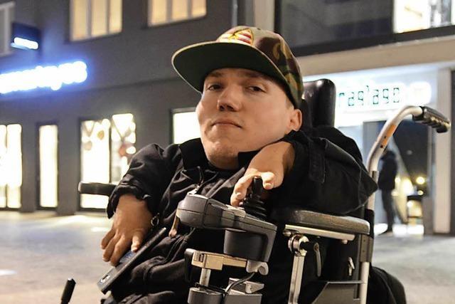 Unterwegs mit Drive-By, dem Offenburger Rapper im Rollstuhl