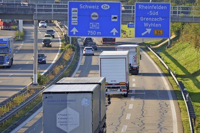 Lkw-Parkraum an A 861 bei Rheinfelden ist weiter Thema