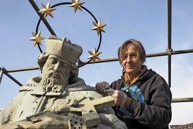 Statue bekommt Sternenkranz zurück