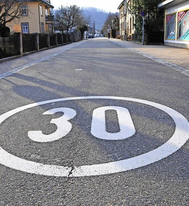 An der Steinener Köchlinstraße gibt es...oreduzierung ausgeweitet werden soll.   | Foto: Robert Bergmann