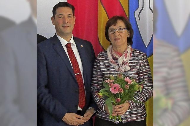 Ingrid Östreicher, langjährige Sekretärin im Denzlinger Rathaus, geht in den Ruhestand