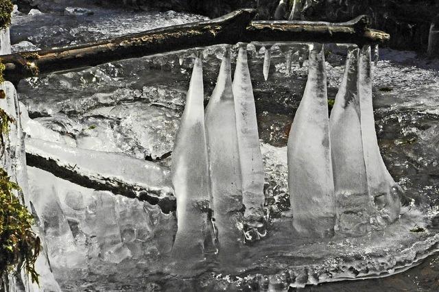 Eiszapfen im Schöpfebach