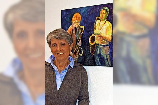 Christa Löffler zeigt in Volkshochschule Dreisamtal in Kirchzarten gemalte Landschaften