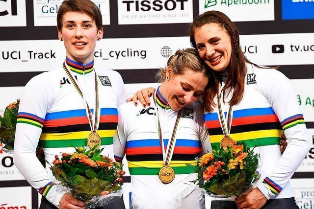 Deutsche Bahnradfahrerinnen gewinnen Gold bei der Weltmeisterschaft