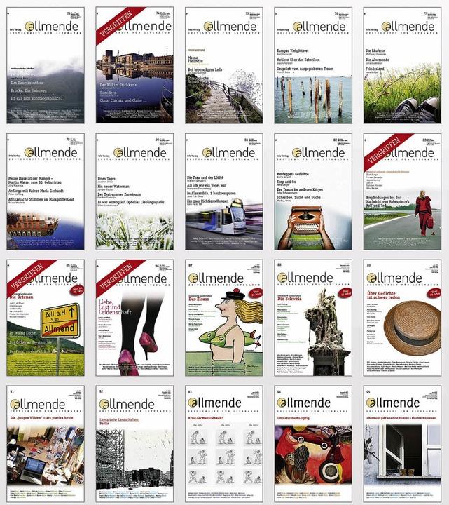 Die jüngsten Nummern der Allmende   | Foto: mitteldeutscher Verlag