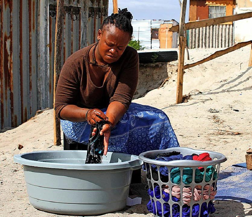 Waschen wird in Kapstadt zum Luxus.   | Foto: dpa