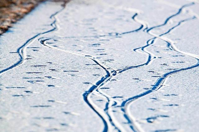 Zeitungszustellung bei minus 14 Grad Celsius – mit dem Rad