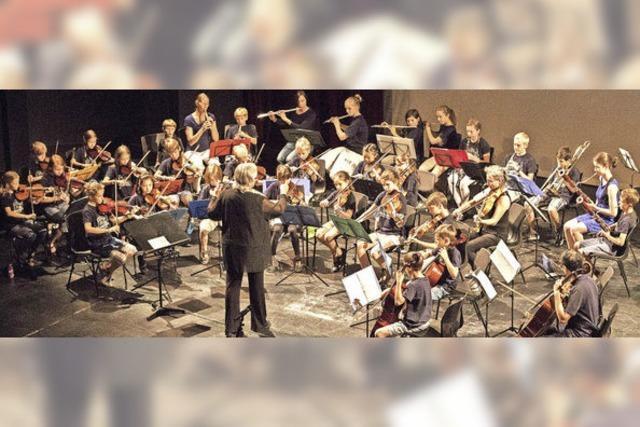 Kinderorchester des Freiburger Theaters in Hinterzarten