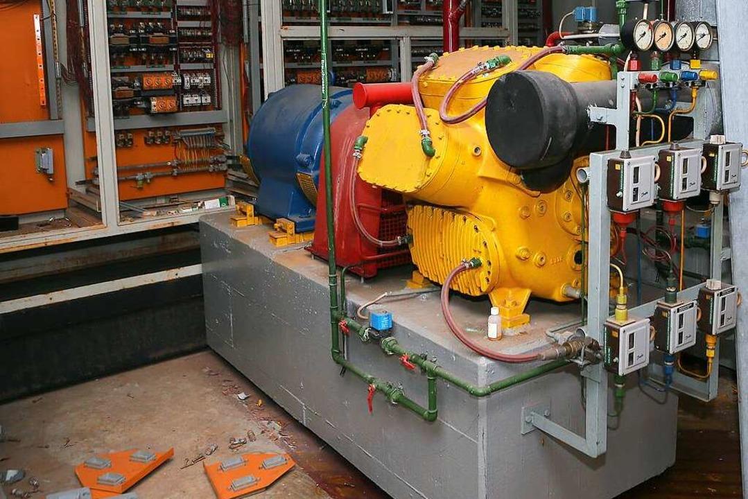 Die Eismaschine im Keller    Foto: Christoph Breithaupt