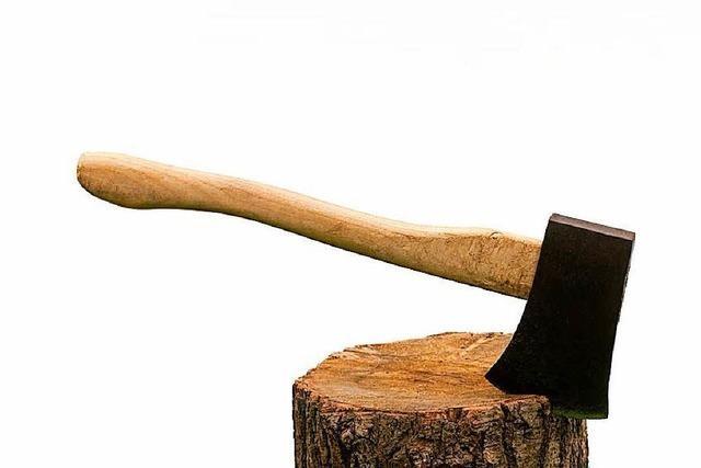 Polizei stoppt Mann mit Spaltaxt – er wollte nur Holz hacken
