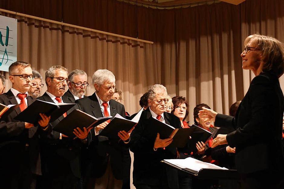 Rock-, Pop- und Jazznacht beim Chorfestival in Bahlingen: die Chorgemeinschaft Breisach. (Foto: Christiane Franz)