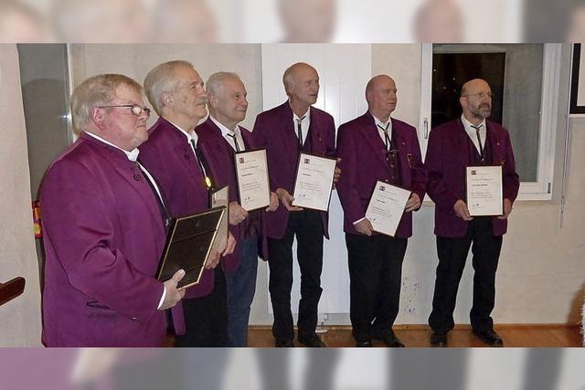 Neue Sänger beim Männergesangverein Buggingen