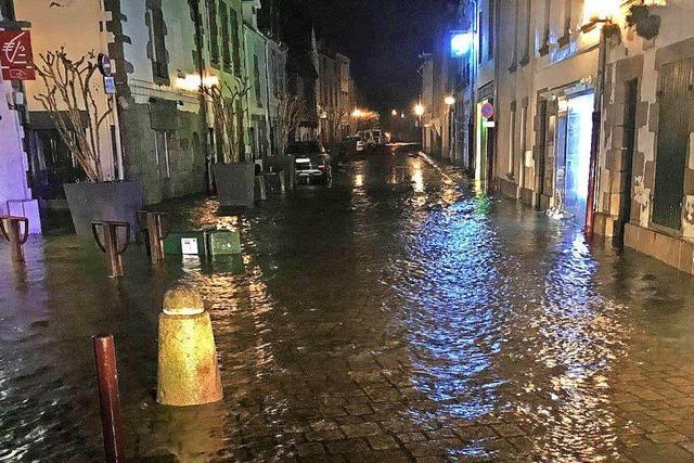 Hochwasser in Le Croisic