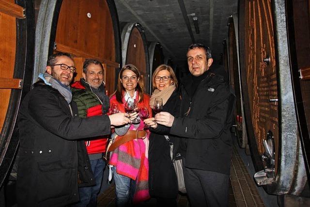 Zufriedene Gäste bei der Rotweinnacht