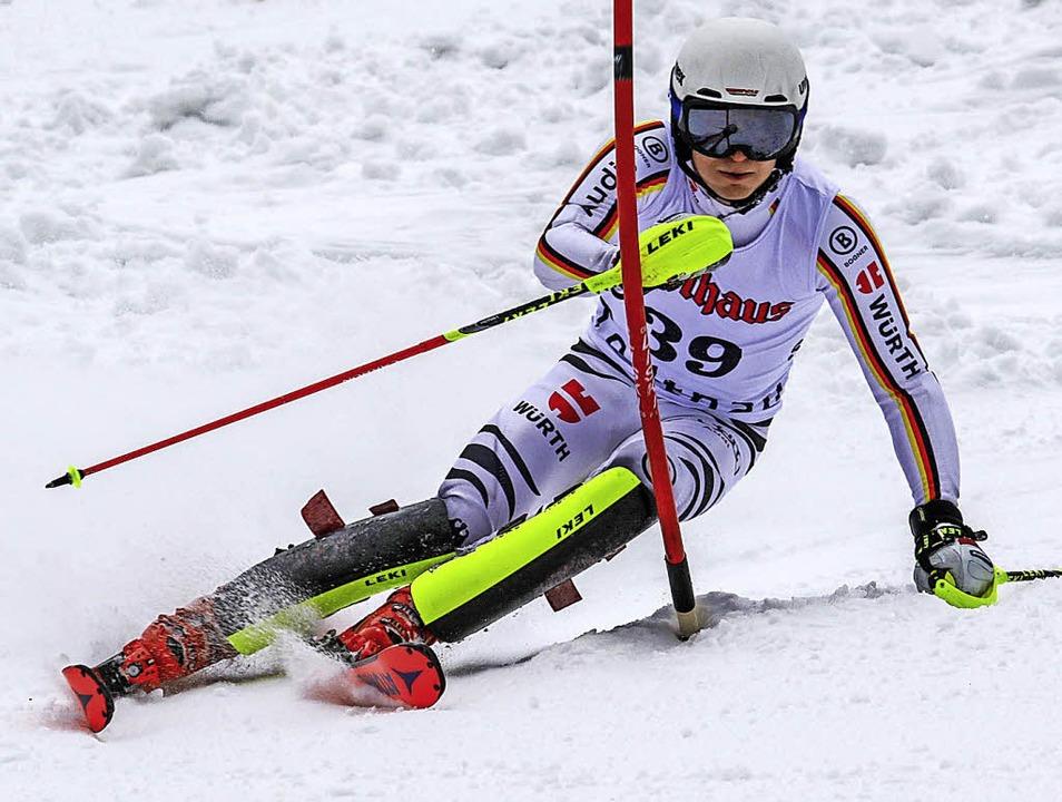 Paul Sauter vom SC Kandel stürzte im e... zweiten FIS-Slalom in Fahl Siebter.    | Foto: siegmund